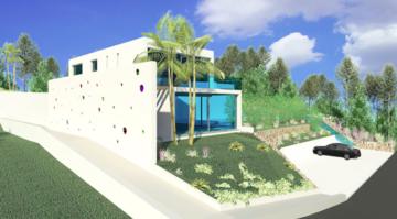 Attraktives Grundstück mit Baulizenz in Cala Moli, 07830 Sant Josep de sa Talaia (Illes Balears) (Spanien), Wohnen